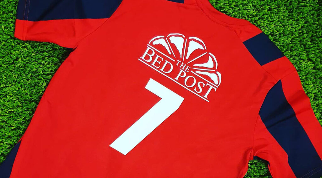 The Bed Post - Rear Shirt Sponsor