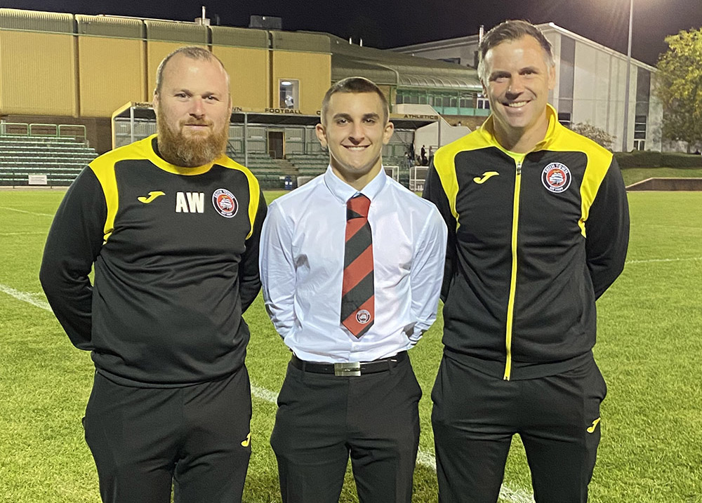Alfie Eldridge with Adam Woodward and Dave Chatwin