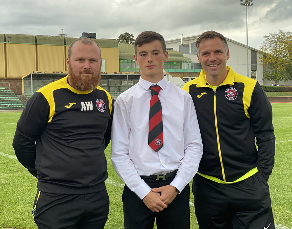 Harry Lawrence with Adam Woodward and Dave Chatwin