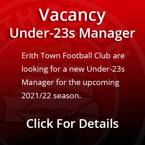 Vacancy - U23 Manager